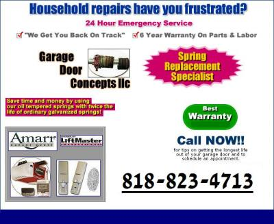 GARAGE DOOR SHERMAN OAKS 818-823-4713 REPAIR & gate service 24/7