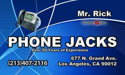 Phone Jacks, Uverse, Wiring 213 407.2116