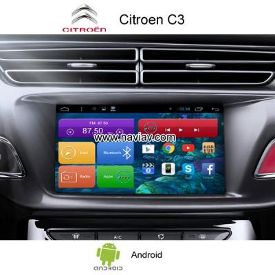 Citroen C3 Android 3G Wifi OBD TPMS car radio PC gps navigation mirror link