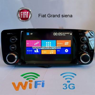 Fiat Grand siena wifi 3g radio Car DVD Player GPS TV phone link black dashboard
