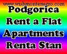 Apartment rental in Podgorica, daily rental, short and long term rental, flats for rent
