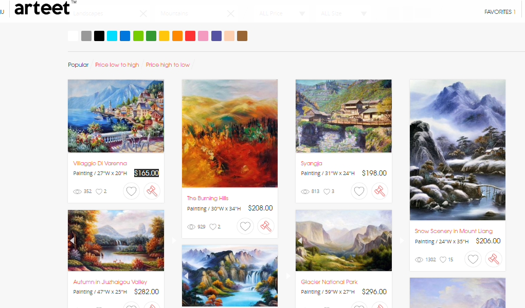 Mountain paintings for sale
