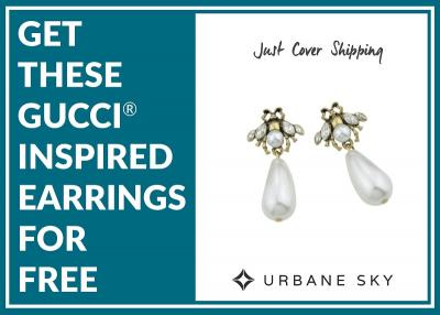 Get These Gucci® Inspired Earrings For FREE!