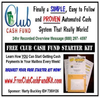 FREE CLUB CASH FUND MONEY MAKING STARTER KIT