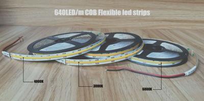 New Coming 640led/m High-Density DC 24V COB Flexible led strip | EXW Shenzhen US$7.*/m
