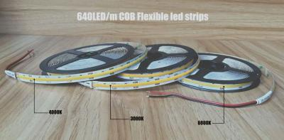 New Coming 640led/m High-Density DC 24V COB Flexible led strip | EXW Shenzhen US$7.*/m