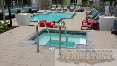 Modern pool coping