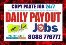 Copy paste job | Daily salary | work at home jobs | 1010 |
