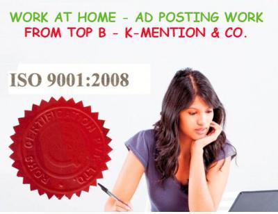 Simple Homebased ads posting work call 9898665104 - Surat