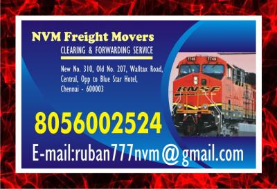 Chennai NVM Freight Movers | since 1979 | Clearing & Forwarding Service | 1001 |