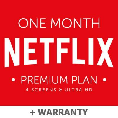 Netflix account 1 Month Subscription & Warranty: 4K UHD 4 Screens Premium Private
