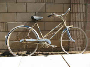 Early 60's vintage J. C. Higgins 3 speed ladies bicycle -   - $75