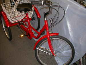 6 speeds ,NEW TRICYCLE ADULT DELUXE 24